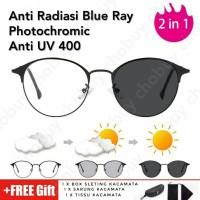 COD Kacamata Kesehatan photocromic Anti Radiasi Blue ray 02292