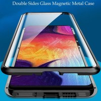 Xiaomi Redmi Note 8 Note8 Double Side Glass Magnetic Clear Case Cover