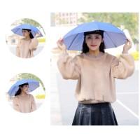 PAYUNG TOPI - Payung Kepala Payung Mancing Hiking Hat Umbrella 60 CM