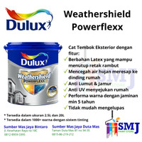 CAT EXTERIOR DULUX WEATHERSHIELD POWERFLEXX BRILLIANT WHITE 2,5 LITER