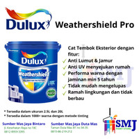 CAT EXTERIOR DULUX WEATHERSHIELD BRILLIANT WHITE KEMASAN 2,5 LITER