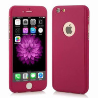 ROSE RED - PROTECT CASE 360 free glass Iphone 5/5s 6plus 6plus 7/7plus