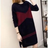 dress jumpsuit playsuit abstrak floral style / terusan pinggang tali