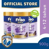 Friso Gold 4 Susu Formula Anak 4-12 Tahun 900g [3 pcs]