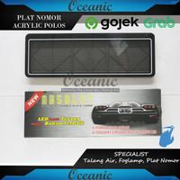 Dudukan / Tatakan / Tempat Plat Nomor Mobil Mika Acrylic Polos