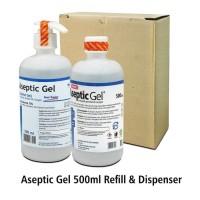 Aseptic Gel 500 ml Onemed Dispenser & Refil Hand Sanitizer Gel One Med