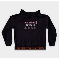 sweater hoodie anak black pink in your area - rifki collection