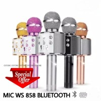 WS858 Mic Karaoke Smule Speaker Bluetooth Wireless Microphone Mik
