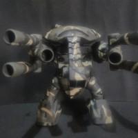 High Grade MSM04G-Juaggu Bandai Repaint camo dan battle damage Gundam