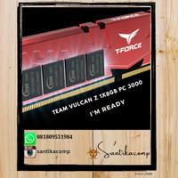 MEMORY RAM PC TEAM T-FORCE DDR4 GAMING VULCAN Z 8GB (1x8GB) 3000Mhz