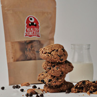 Homemade Soft Cookies by Healthy Monsters (Almond Chocolate Chunk)