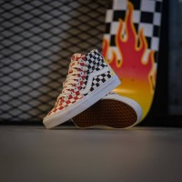 Vans Sk8 Hi Checkerboard Multi / True White