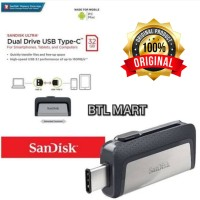 Flashdisk Sandisk OTG 32GB TYPE C .Dual Drive Flashdisk