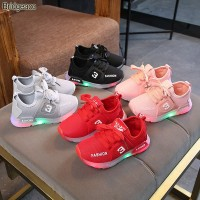 Sepatu Sneakers LED Anak Laki-laki & Perempuan Motif 011 Import -Murah
