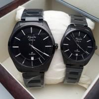 Jam Tangan Alexander Christie Couple AC8579 BlackCowo 4cm & Cew 3.2cm