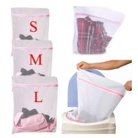 Keranjang Laundry / Pakaian Dalam / Kaos Kaki Bahan Nilon Motif
