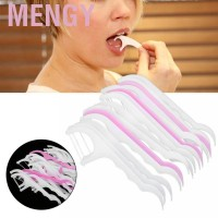 Menow 30Pcs Tusuk Gigi Dental Floss Sekali Pakai