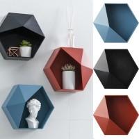 Rak Gantung Dinding Bentuk Hexagon untuk Kamar Mandi w1o3