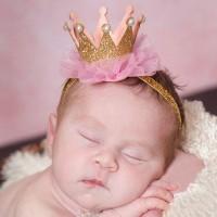 HOT Kids Girl Baby Toddler Cute Sequin Glitter Crown Headband Hair