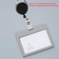 Ditarik Klip Holder ID Card Karabiner dengan Tali Retractable/Dapat