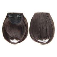 Short Front Neat Bangs Clip In Bang Fringe Hair Extensions Straight
