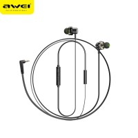 AWEI Z1 Double Moving Ring Heavy Bass earphone Magnetic Subwoofer