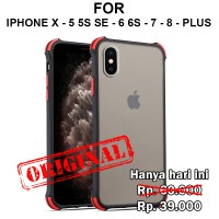 Case iPhone X - 5 5s SE - 6 6s - 7 - 8 - Plus casing hp cover SHIELD - 6 6s 7 8 Plus, Hitam