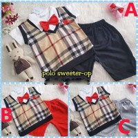 Promo Junniii Baju Anak Bayi Laki Laki Setelan Baju Polo Sweater
