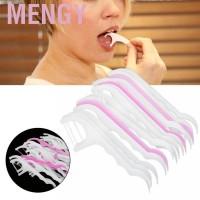 Pakai Menow 30Pcs Tusuk Gigi Dental Floss Sekali