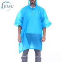 Jas Hujan Hoodie Transparan Tembus Pandang dengan Tali Serut untuk