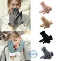 untuk Musim Dingin Sarung Tangan Wanita Full Finger Touch Screen