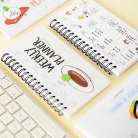 bhy Cute Week Plan Memo Book Weekly Daily Planner Sushi Notebook