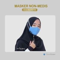 MASKER KAIN Kaos Anti Bakteri Dewasa dan Anak Tali Karet Hijab Audina