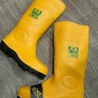 Promo|Best Seller| Sepatu Boot Rubber Safety Legion Karet Ujung Besi