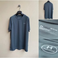 Kaos Olahraga Fashion Pria Branded Merk Under Armo*r Grey (Original)
