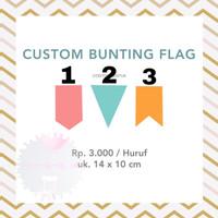 Custom Bunting Flag Banner Huruf DIY