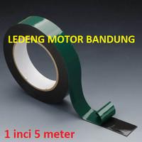 Green Double Tape 1inci 5M Isolasi Perekat Serba Guna Foam Busa Hijau