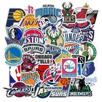 30 pcs Stiker NBA Logo Lakers Chicago Koper Rimowa Sticker