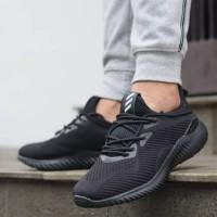 Sepatu Adidas Alphabounce Triple Black / Hitam Pria Wanita Sekolah