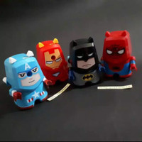Rautan putar koleksi superhero avengers batman spiderman iron man