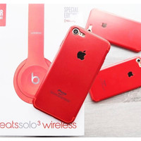Apple RED Case For iPhone 5/5s/SE, 6/6s, 6+/6s+, 7, 7+,8, 8+