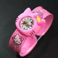 TERMURAH !! JAM TANGAN ANAK TEPUK KARAKTER RUBBER - Hello Kitty