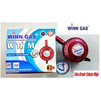 Regulator LPG Winn Gas W 18 M + Meter Regulator Tekanan Rendah