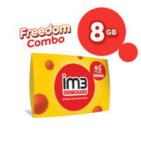 IM3 OOREDOO STARTER PACK PRABAYAR - FREEDOM 8 GB, 30 Hari