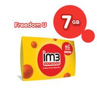 IM3 OOREDOO STARTER PACK - FREEDOM U 7GB+20GB Apps / 30 Hari