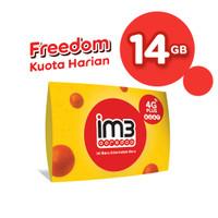 IM3 OOREDOO STARTER PACK PRABAYAR - FREEDOM HARIAN 14GB (14 HARI)
