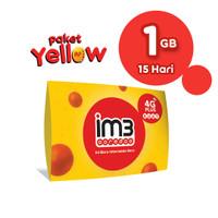 IM3 OOREDOO STARTER PACK PRABAYAR - Yellow 1GB, 15 Hari