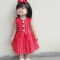 Dress Baby Motif Bunga | Dress Anak | Set Dress Anak | BUTTON DRESS
