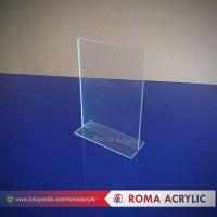 Akrilik displaymenu/acrylik tent card a5 akrilik brosur A5