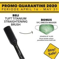 TUFT Professional Titanium Straightening Brush / Catok Sisir Listrik